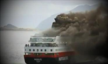 Пожар на круизном лайнере в Норвегии
