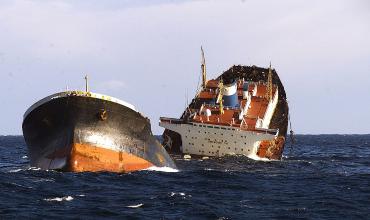 Тонущее судно Престиж