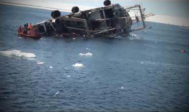 Большой морозильный рыболовецкий траулер Капитан Болсуновский пошел ко дну