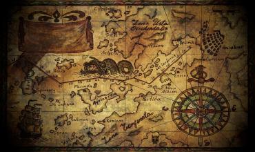 Рассмотрение морской карты для Южного Эгейского моря