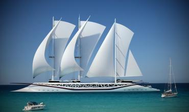 Постановка на якорь парусного судна