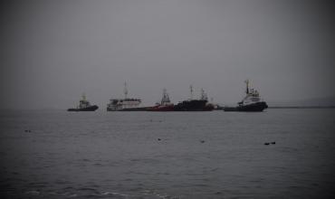 Тонущий российский сухогруз у берегов Болгарии