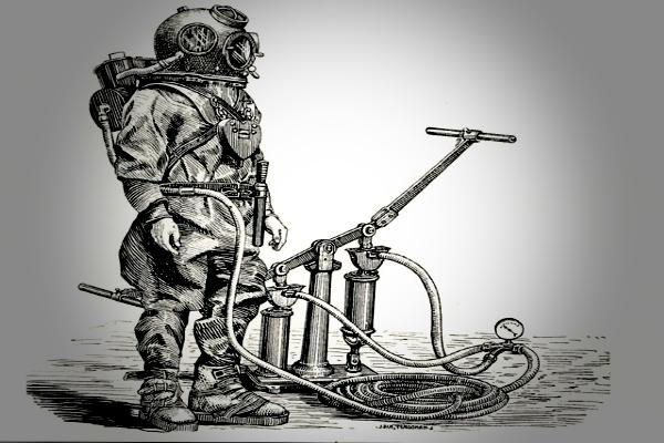 Прадед первого акваланга