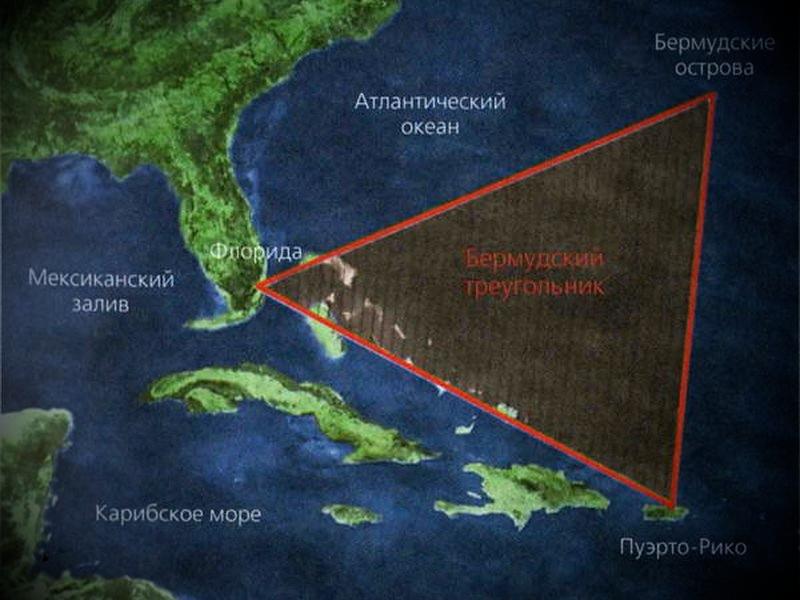 Местоположение бермудского треугольника