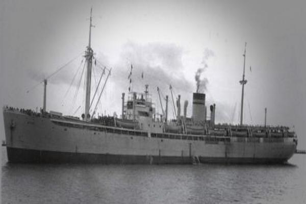 Гибель фашистского корабля Гойя