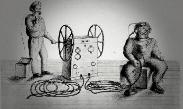 Первые водолазные костюмы начала XIX века