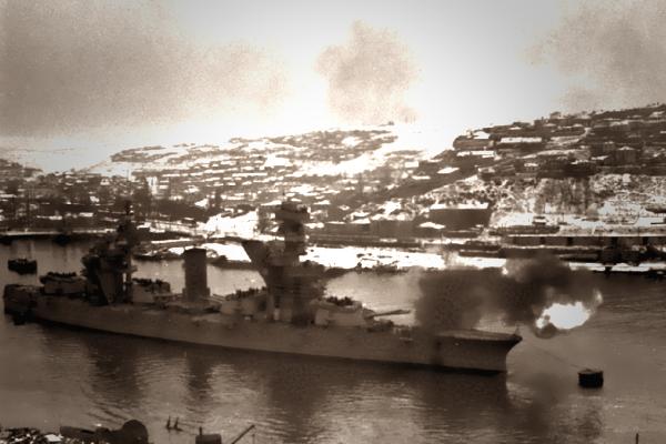 Линкор Парижская коммуна на страже Черноморских берегов