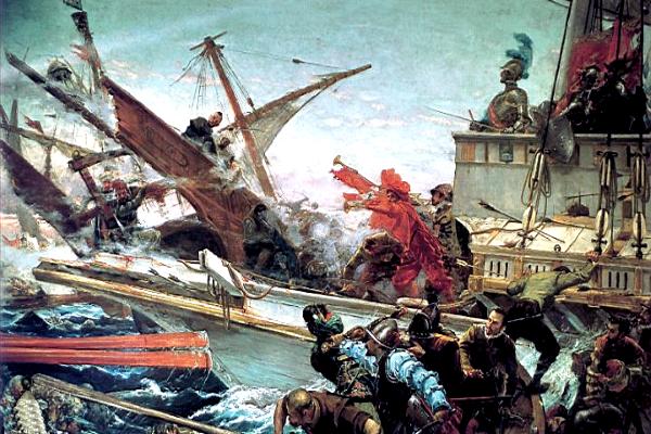 Знаменитое морское сражение при Лепанто 1571 года