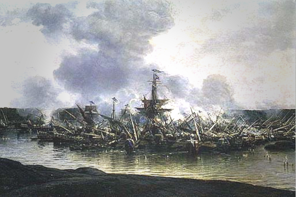 Морские сражения России