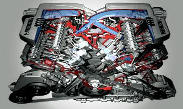 Определение результирующих моментов в двигателе от сил инерции