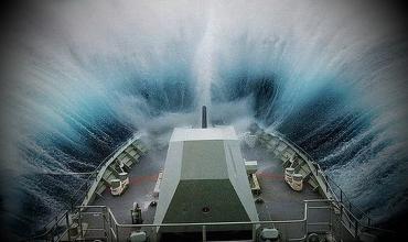 Корабли попавшие в 12 бальный шторм