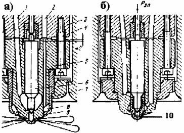 Распылители двигателей RND — а и RNDM — б