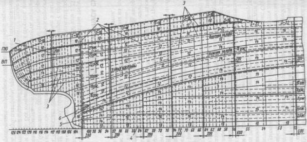 Чертеж растяжки наружной обшивки кормовой части корпуса судна
