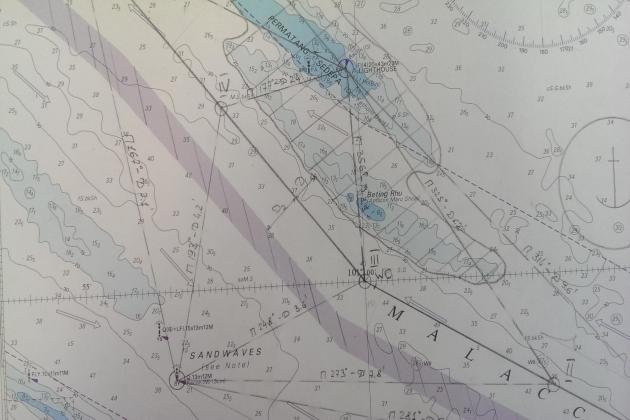 Местоположение судна