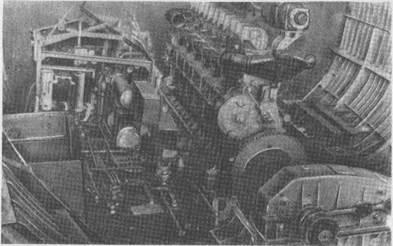 Монтажный блок левого борта, погружаемый в машинное отделение