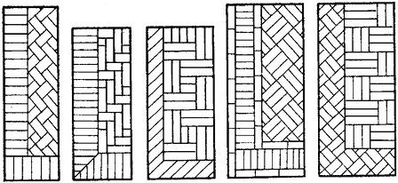 Образцы рисунков паркетного покрытия на судах