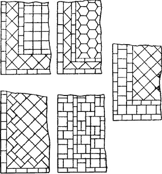 Образцы рисунков укладки керамических плиток