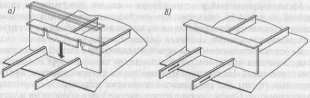 Пересечения продольных и поперечных балок набора