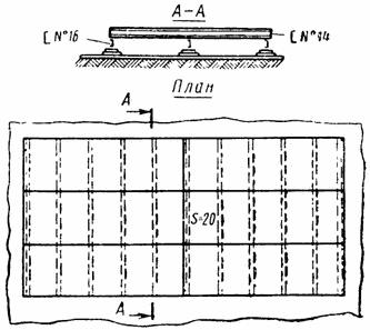 Плоский сборочный стенд для сборки полотнищ