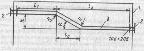 Пример эскиза при координации трассы воздуховода