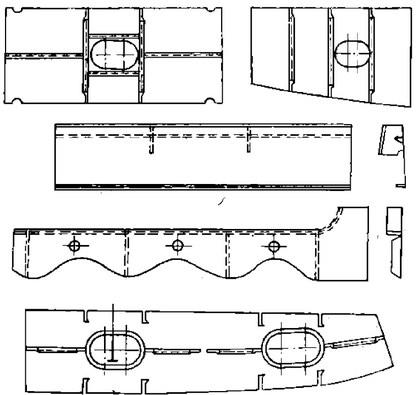 Широкие полосы с ребрами или поясками