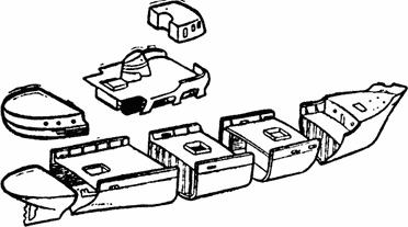 Сборка корпуса из блок-секций