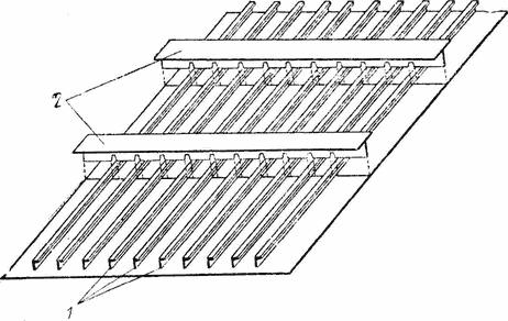 Сборка плоскостной секции с продольной системой набора