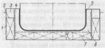 Схема кессона под монтажным стыком корпуса
