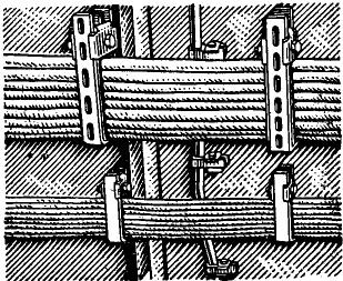 Крепление в кассетах пучков магистральных кабелей по борту машинного отделения