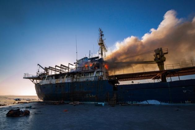 Пожар на судне Yeruslan