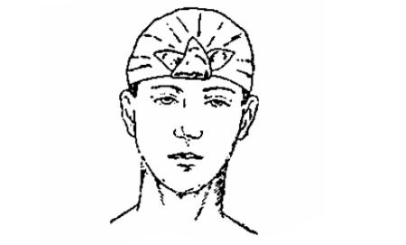 Косынка, завязанная на голове