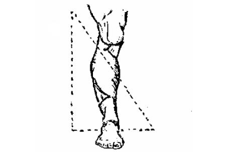 Косынка, завязанная на колени