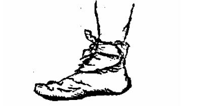 Косынка, завязанная на стопе
