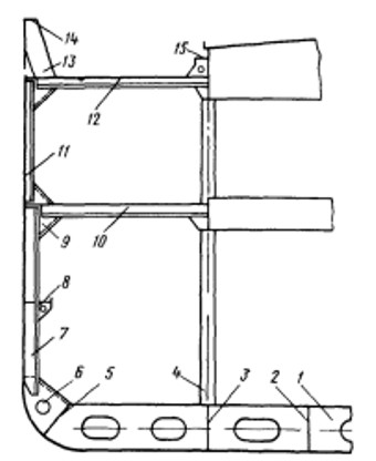 Мидель-шпангоут судна поперечной системы