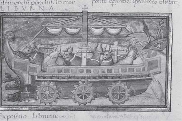 Корабль, «запряженный» быками