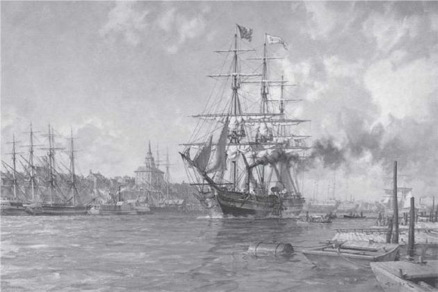«Саванна» - первый пароход, пересекший Атлантику