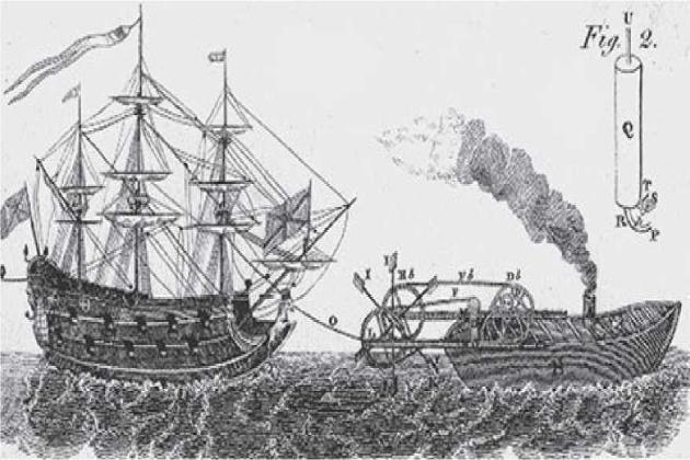 Английский патент на пароход, 1736 г.