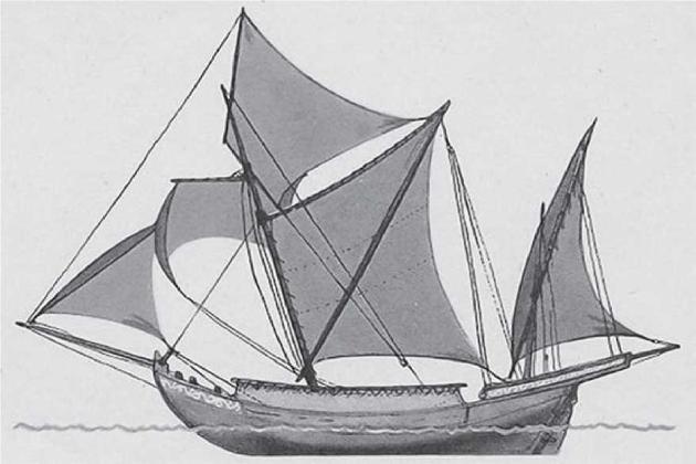 Греческое судно трикандини