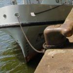 Постановка судна на два якоря