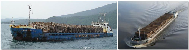 Timber carrying vessel