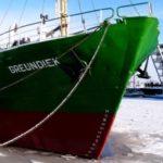 Швартовка судна во льду