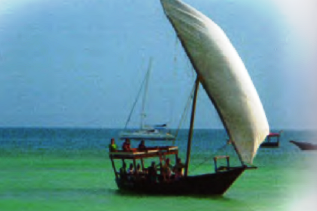 Джекази - простейший одномачтовый доу, наиболее распространенный у побережья Восточной Африки