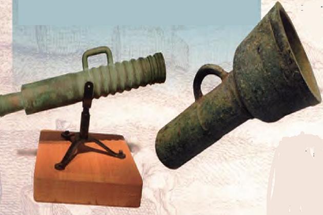 «Небо» - легкая корейская пушка (справа) и малая мортира по прозвищу «Маленький тигр» (слева)