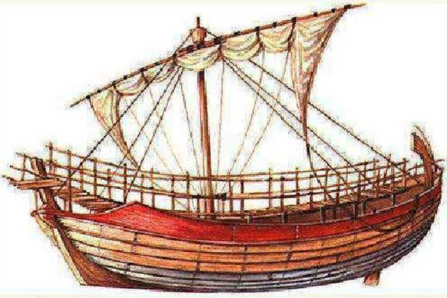 Типичный греческий торговый парусник