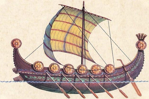 Модель торгового корабля финикийцев. VIII в. до н. э.