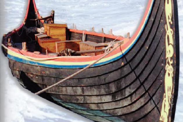 Драккар викингов - современная норвежская реплика Озебергского корабля