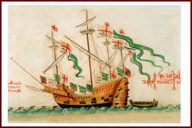 Каррака «Иисус из Любека» - один из кораблей, принадлежавших ганзейскому союзу. 1546 г.