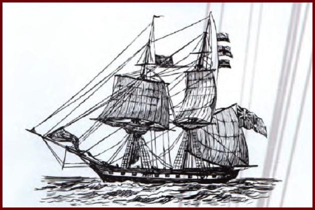 Типичный английский 24-пушечный бриг рубежа XVII—XIX вв.