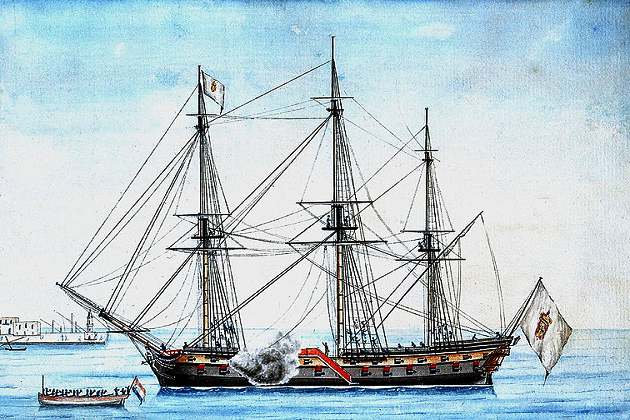 Португальский 74-пушечный линейный корабль 2-го ранга