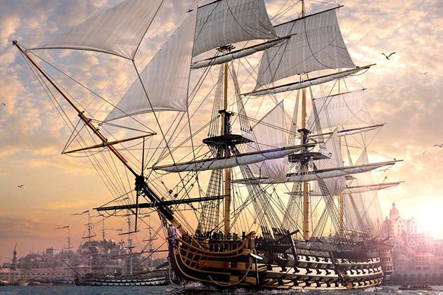 Образец совершенной конструкции русского линейного корабля - 110-пушечный «Александр» постройки 1827 г.